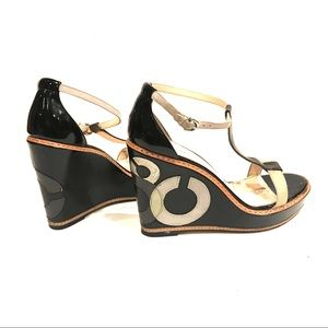 Coach Maggie Crnkle Patent Wedges 🔥RARE